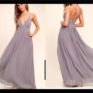 Lulu's depths of my love light purple maxi dress M